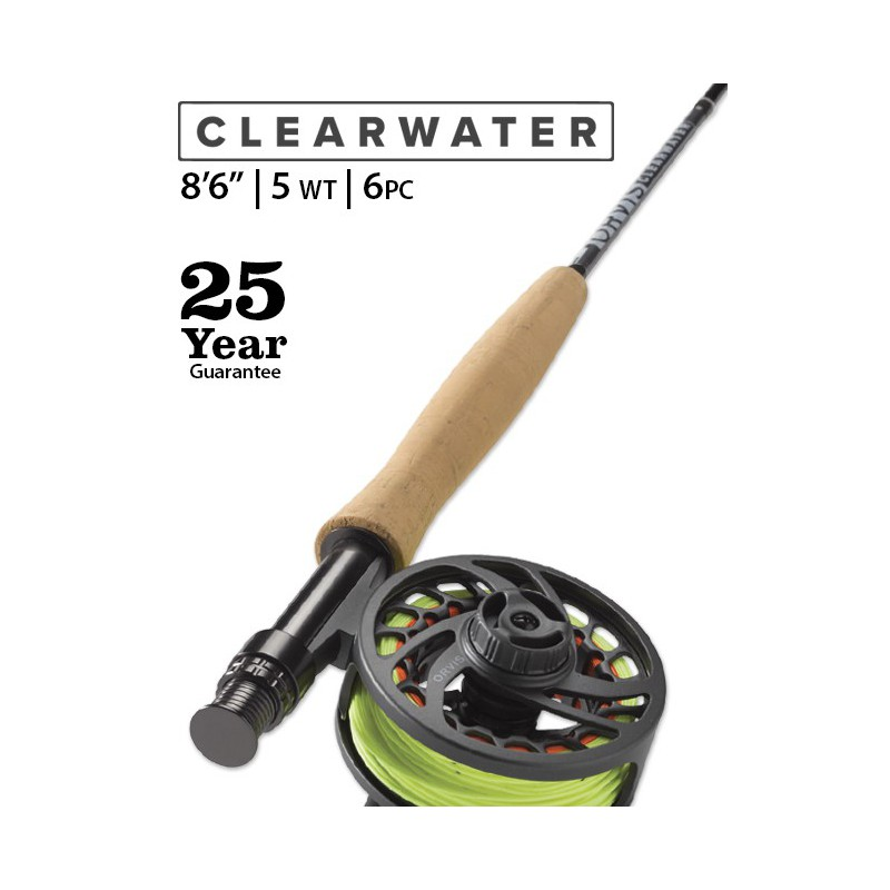 "Clearwater 5-Weight 8'6"" 6-Piece Fly Rod"