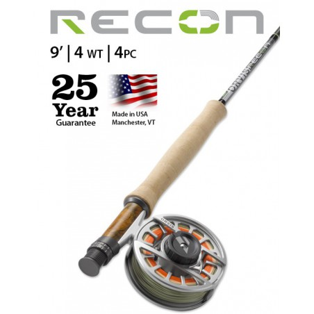 Recon 4-Weight 9' 4-Piece Fly Rod