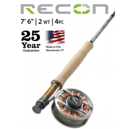 """Recon 2-Weight 7'6"""" 4-Piece Fly Rod"""