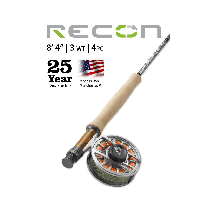 """Recon 3-Weight 8'4"""" 4-Piece Fly Rod"""