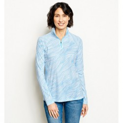 Women's Printed drirelease Long-Sleeved Quarter-Zip Tee