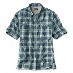 Open Air Plaid Short-Sleeved Casting Shirt