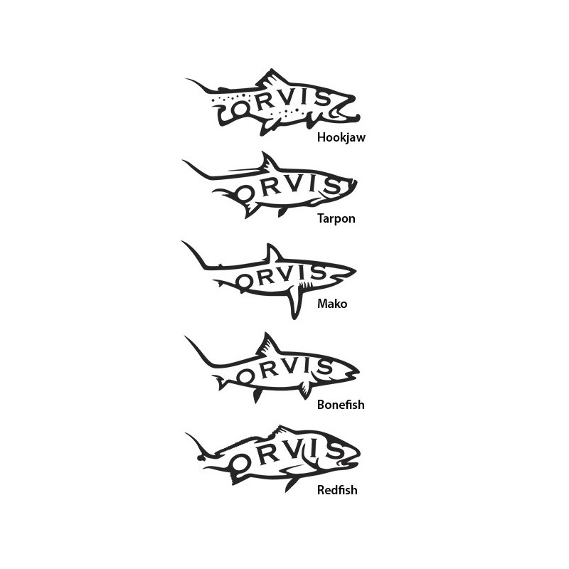 "8"" Die-Cut Fish Sticker"