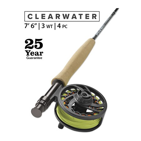 """Clearwater 3-Weight 7'6"""" Fly Rod"""