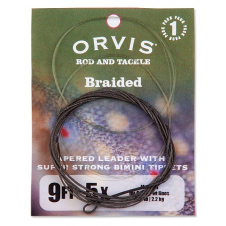 Braided Nylon Leader with Bimini Tippets