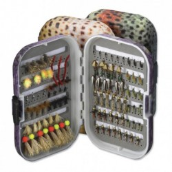 Trout Skin Plastic Fly Box with Reference Foam