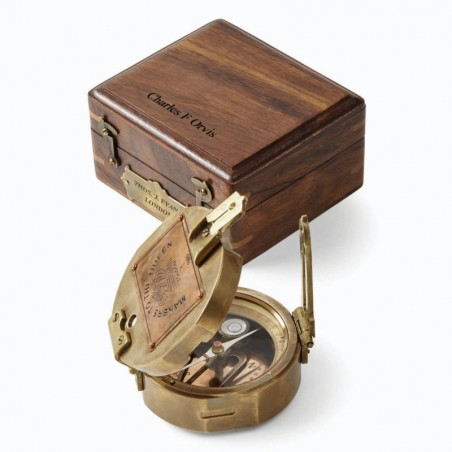 Gift-Boxed Brass Compass