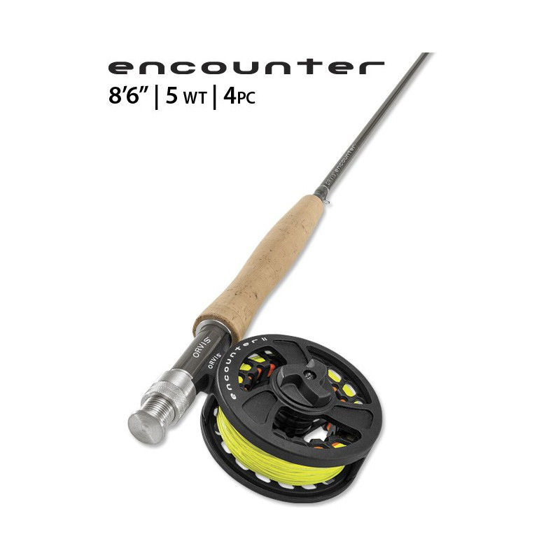 """Encounter 5-weight 8'6"""" Fly Rod Outfit"""