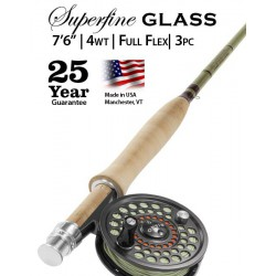 "Superfine Glass 4-weight 7'6"" Fly Rod"
