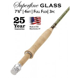 """Superfine Glass 4-weight 7'6"""" Fly Rod"""